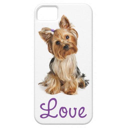 Love Yorkshire Terrier Puppy Dog iPhone 5 Case