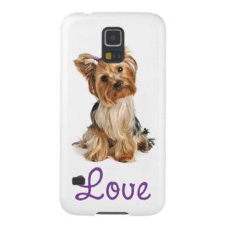 Love Yorkshire Terrier Puppy Dog Galaxy Case