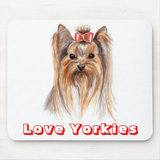 Love Yorkshire TerrierPuppy Dog Painting Mousepad