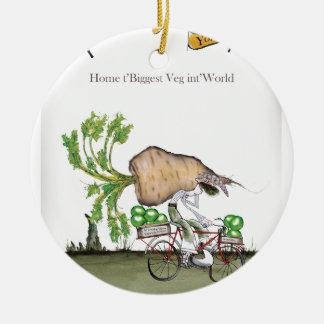 Love Yorkshire 'world's biggest parsnip' Ceramic Ornament