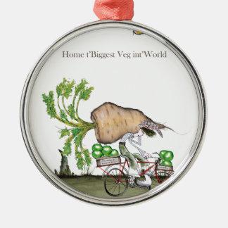 Love Yorkshire 'world's biggest parsnip' Metal Ornament