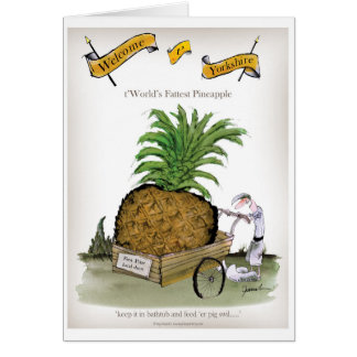 Love Yorkshire 'world's fattest pineapple' Card