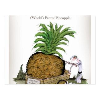 Love Yorkshire 'world's fattest pineapple' Postcard