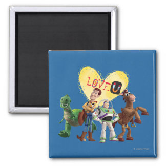 Love You 2 Inch Square Magnet
