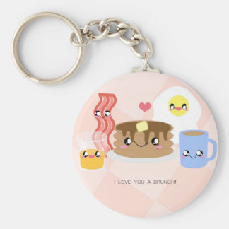 Love You a Brunch Keychain