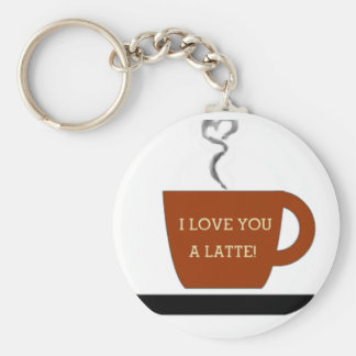 Love you a Latte - Cup Key Chain