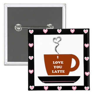 Love You a Latte - Heart Framed Pins