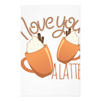Love You A Latte Stationery