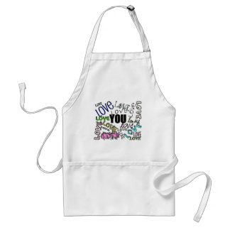 LOVE YOU ADULT APRON