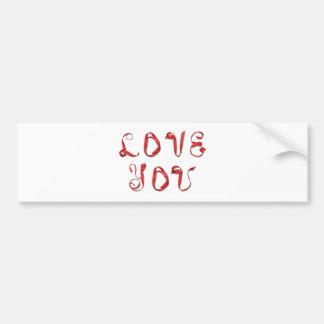 'Love You' - Alpha Art Valentine Car Bumper Sticker