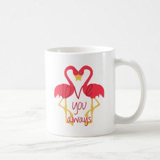 Love You Always Flamingo Coffee Mug