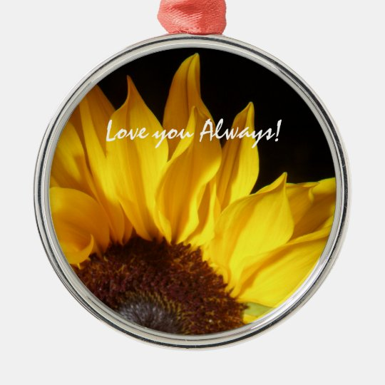 Love You Always! Floral Ornament