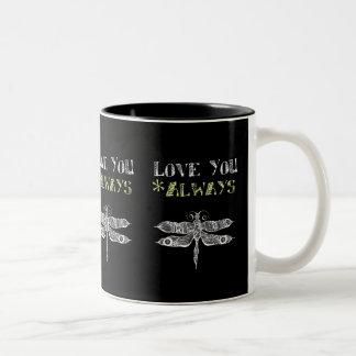 Love You Always Two-Tone Coffee Mug