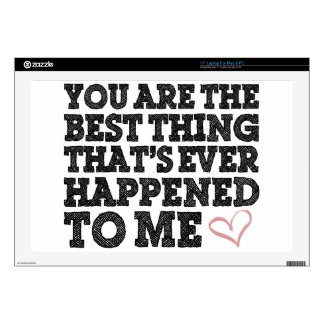 LOVE You Are The Best Thing Decals For Laptops