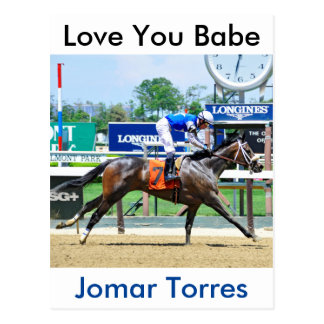 Love You Babe Postcard