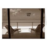 LOVE YOU-BEACH STYLE-ROMANTIC GETAWAY GREETING CARD