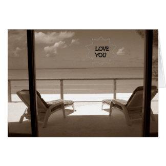 LOVE YOU-BEACH STYLE-ROMANTIC GETAWAY CARD