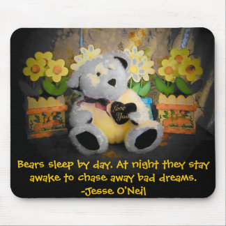 """Love You"" bear guards your dreams Mouse Pad"
