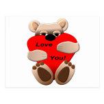 Love You Bear Postcard