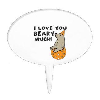 Love You Beary Much Cake Picks