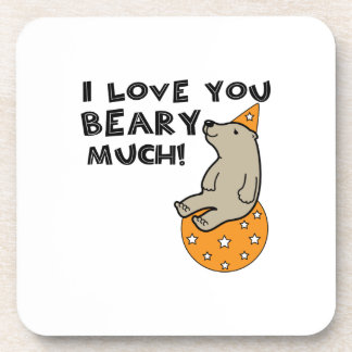Love You Beary Much Drink Coaster