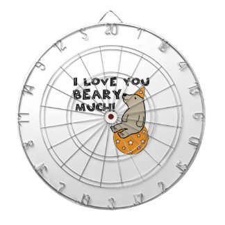 Love You Beary Much Dartboards