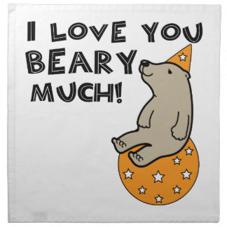 Love You Beary Much Cloth Napkins