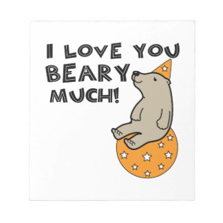 Love You Beary Much Scratch Pads