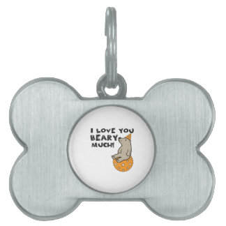 Love You Beary Much Pet ID Tag