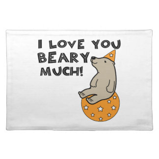 Love You Beary Much Cloth Place Mat