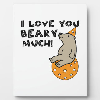 Love You Beary Much Plaques
