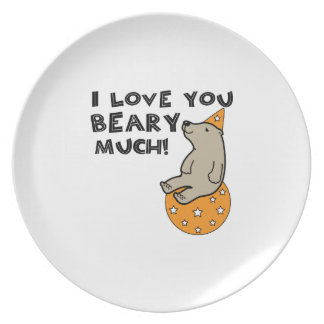 Love You Beary Much Plates
