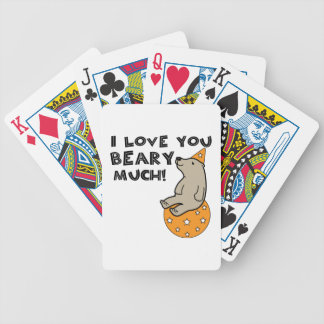 Love You Beary Much Bicycle Playing Cards