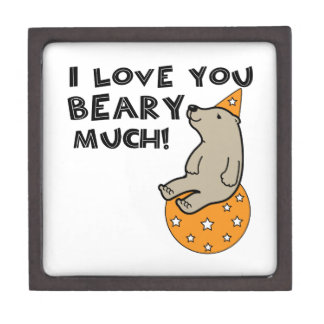 Love You Beary Much Premium Trinket Boxes