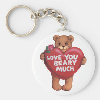 Love You Beary Much products Keychain
