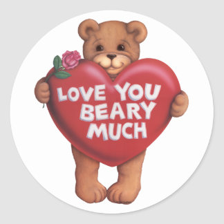 Love You Beary Much products Stickers