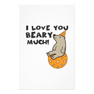 Love You Beary Much Stationery