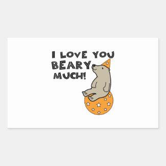 Love You Beary Much Rectangular Sticker