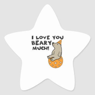 Love You Beary Much Star Sticker