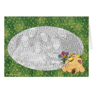 Love You Bunches Bear Template Greeting Card