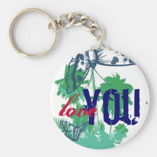 Love You Butterfly Paradise Key Chain