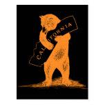 Love You California--Orange and Black Postcard