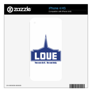 Love: You can do it Skin For iPhone 4S