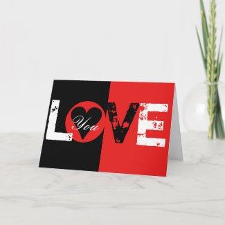 Love You Card card