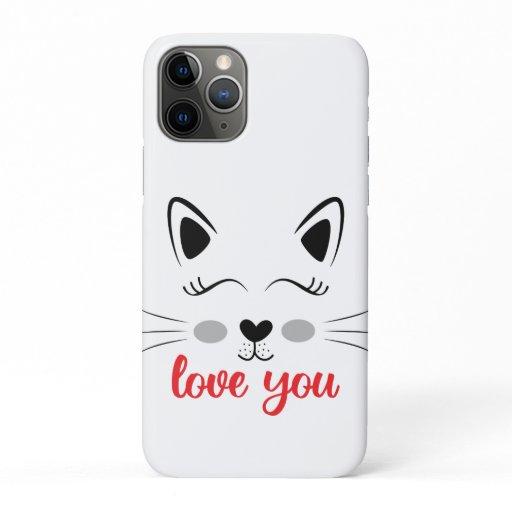Love you cat iPhone 11 pro case