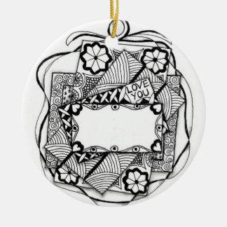 LOVE YOU Christmas Ornament with Name Imprint