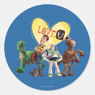 Love You Classic Round Sticker