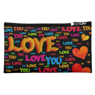 Love You Cosmetic Bag