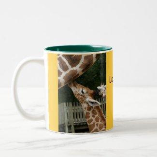 Love You Dad Giraffe Mug mug