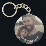 "Love you Dad, Personalized Photo Key Chain<br><div class=""desc"">This personalized picture key chain is a perfect gift for your dad for father"